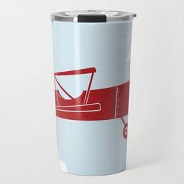 Biplane Bright Red Travel Mug