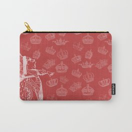 Queen of Hearts and Crowns Carry-All Pouch
