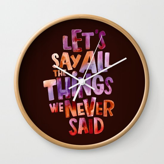 All The Things Wall Clock