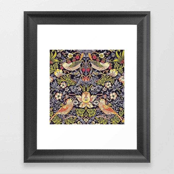 William Morris Strawberry Thief Art Nouveau Painting Gerahmter Kunstdruck