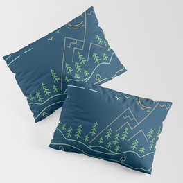 Outdoor solitude - line art Pillow Sham