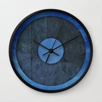 lord of the ring Wall Clocks featuring Ring by Steve Mac