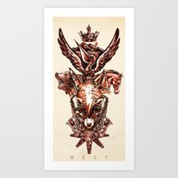 nba Art Prints featuring NBA Western Conference by Andy Tsang | www.tsangart.com