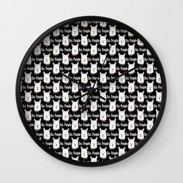 Ew People Llama Gift Alpaca Lover Sarcastic Humor  Wall Clock