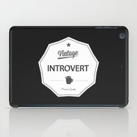 introvert iPad Cases featuring Vintage Introvert by Introvertology