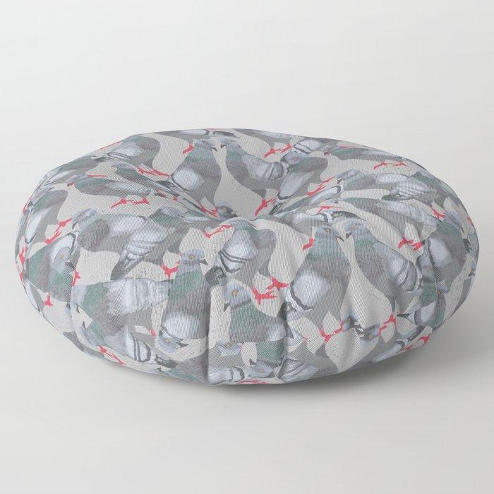 City Pigeons Floor Pillow