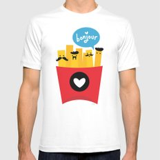French Fries MEDIUM White Mens Fitted Tee