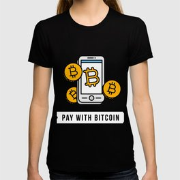 Pay With Bitcoin (Mobile Payments) Icon T-shirt