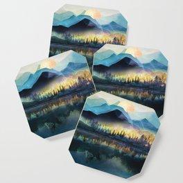 Mountain Lake Under Sunrise Coaster