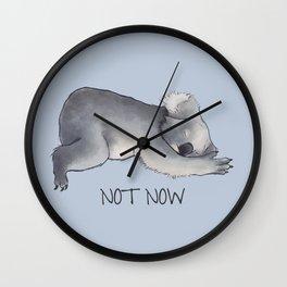 Koala Sketch - Not Now - Lazy animal Wall Clock
