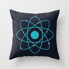 Atom, Molecules, DNA, Science decor, science class Throw Pillow