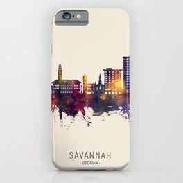 Savannah Georgia Skyline iPhone Case