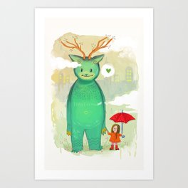 Nature Monster Art Print