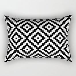 Aztec Block Symbol Ptn BW II Rectangular Pillow