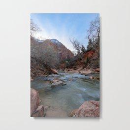 Virgin_River in Winter - Zion_National_Park Metal Print