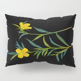 Mary Delany Botanical Vintage Flower Floral Collage Oenothera Fruticosa Pillow Sham