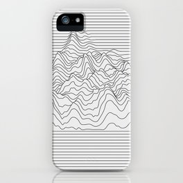 Mountain lines iPhone Case