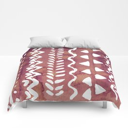 Loose boho chic pattern - purple brown Comforters