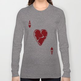 Delicious Deck: The Ace of Hearts Long Sleeve T-shirt