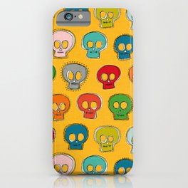 sew skully yellow iPhone Case