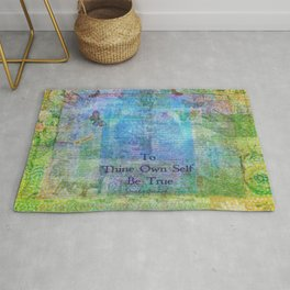 To Thine Own Self Be True Shakespeare Quote Rug