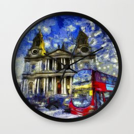 Vincent Van Gogh London Wall Clock