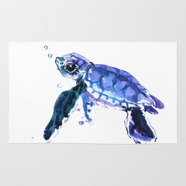 Cute Baby Turtle Rug