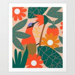 Cute pollinator Art Print