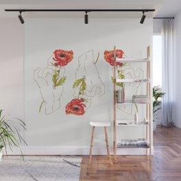 Light Poppy Gilded Hand Wall Mural