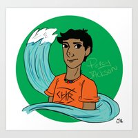 percy jackson Art Prints featuring Percy by simone kett