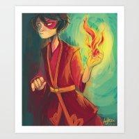 zuko Art Prints featuring zuko by jununy