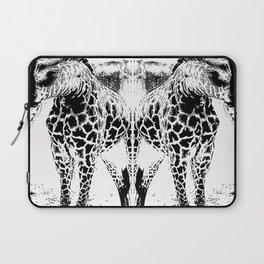 Black n White Giraffe Laptop Sleeve