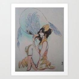 The bird breeder - L'oiselière Art Print