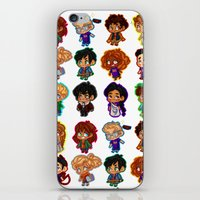 heroes of olympus iPhone & iPod Skins featuring Chibis of Olympus by chubunu