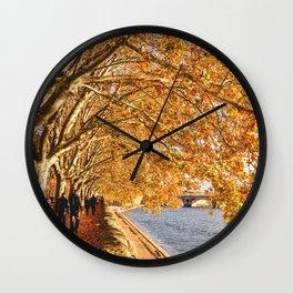 Autumn walk in France Wall Clock