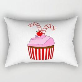 Cupcakes And Candy Canes Rectangular Pillow