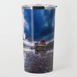 Dark Skies at Eilean Donan Castle Travel Mug