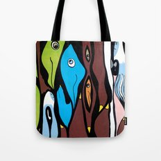 the SECRET MEETING of the ALTERED MINDS Tote Bag