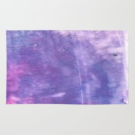 Ube abstract watercolor Rug