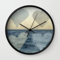 hearts Wall Clocks featuring Hearts by Pure Nature Photos
