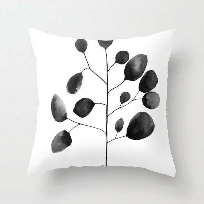 watercolor leaves throw pillow by summersunhomeart society6