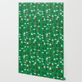 Christmas joy with little rabbits Wallpaper