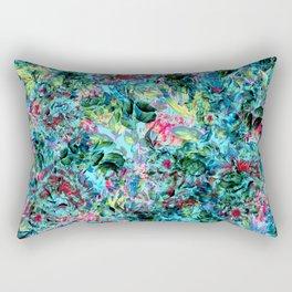 Abstract Floral Chaos Rectangular Pillow