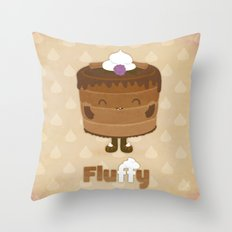 Fluffy Chocolate Mousse Cake Throw Pillow