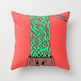 Noodle-Brains Throw Pillow