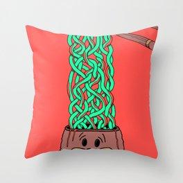 Noodle-Brains Throw Pillow