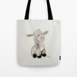 Cuddly Donkey Watercolor Tote Bag