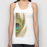 peacock feather Tank Tops featuring Peacock Feather by Kimberly Blok
