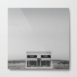 Marfa Texas Black and White Metal Print