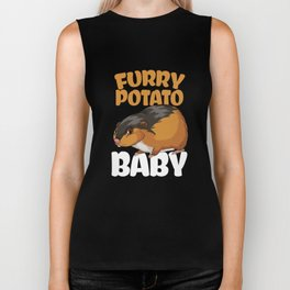 Furry Potato Baby Hamster Rodents Wild Animals Domestic Pet Lovers Gifts Biker Tank